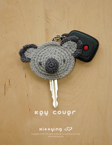 Ravelry Koala Key Cover Pattern By Kittying Ying
