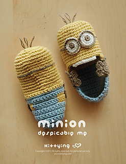 Ravelry minion inspired baby booties pattern by kittying ying kittying ccuart Choice Image