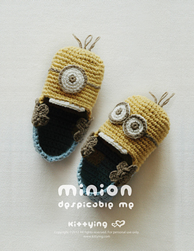 Ravelry Minion Inspired Toddler Booties Pattern By Kittying Ying
