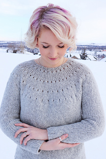 5b0ead94bf6f Ravelry  Easy Eyelet Yoke Sweater pattern by Knitatude   Chantal ...