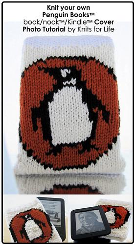 Book Cover Pattern Tutorial ~ Ravelry penguin books ereader cozy pattern by lorna watt