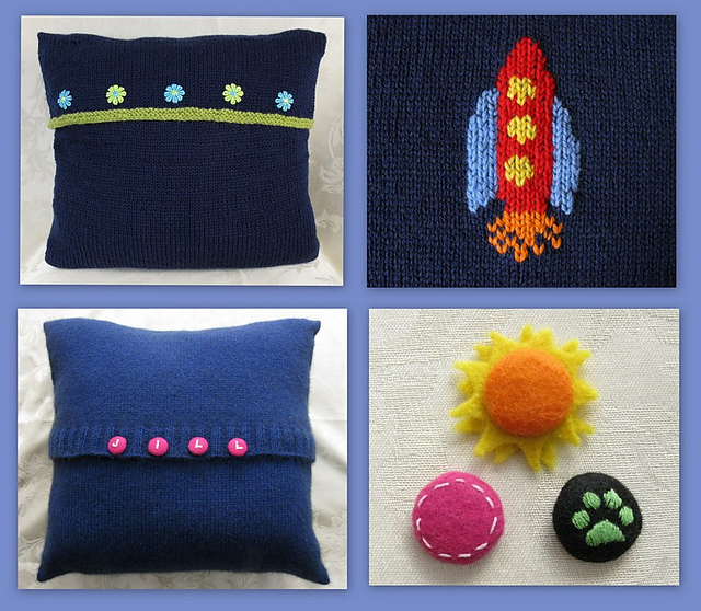 Ravelry Two Easy One Piece Cushion Covers Pattern By Ali Hamilton