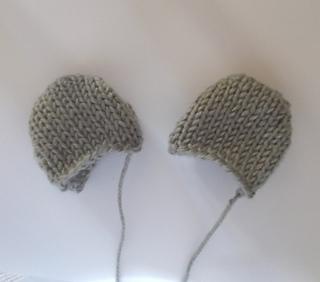 39202cf6d73 Ravelry  Teddy Bear Ears pattern by Ellen Kapusniak