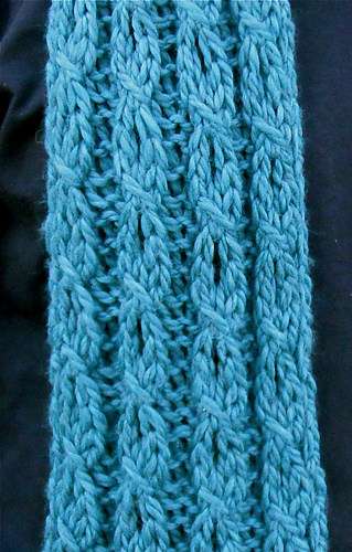 Ravelry Mock Cable And Eyelet Scarf Pattern By Faith Schmidt