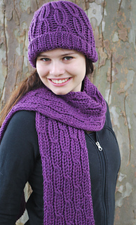 Ravelry  Loom Knit Cabled Hat and Scarf pattern by Faith Schmidt eb1178b7096