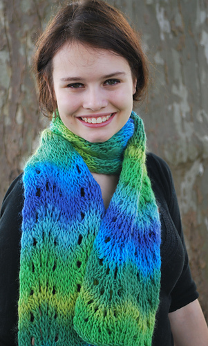 Ravelry loom knit feather and fan scarf pattern by faith schmidt dt1010fo