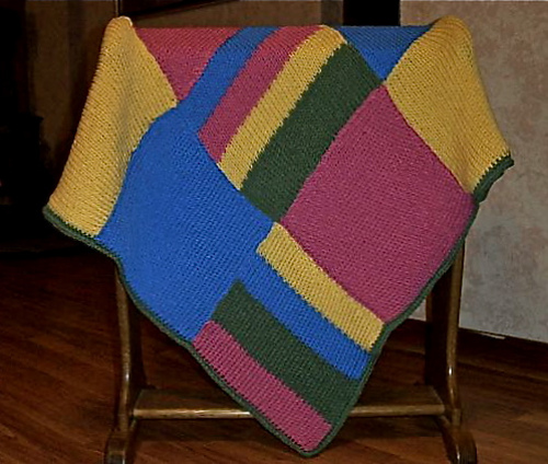 Ravelry Loom Knit Patchwork Baby Blanket Pattern By Faith Schmidt