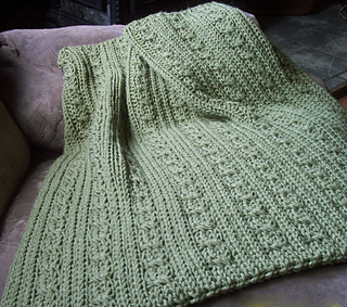 Ravelry Free Knitting Patterns For Baby Blankets : Ravelry: Loom Knit Cables and Ribs Baby Blanket pattern by ...