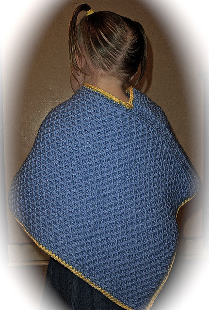 Ravelry Loom Knit Toddlers Criss Cross Poncho Pattern By Faith Schmidt
