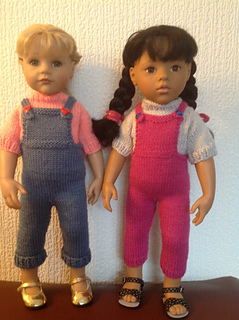 af4980de1 Ravelry  Dungarees and jumper for 18 inch doll pattern by Knitting Nanny Mo
