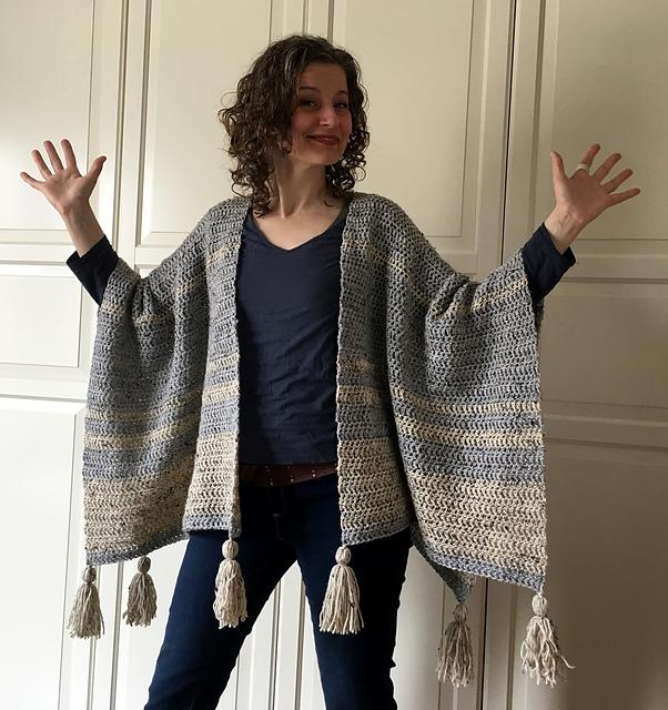 Ravelry Easy Breezy Crochet Ruana Pattern By Sonja Hood Knot