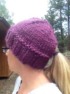ravelry quick ponytail hat pattern by kristina cotterman
