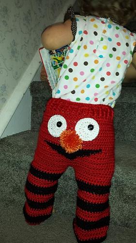 & Ravelry: Elmo Monster Pants pattern by Kristen Kurtz
