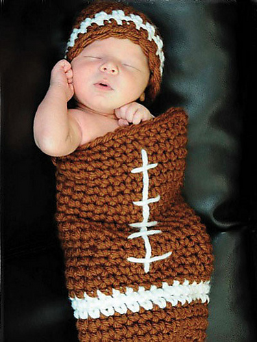 Ravelry Football Cocoon And Hat Set Pattern By Kristi Simpson