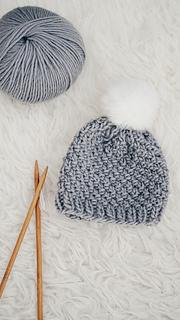 472bbcdec641 Ravelry  Moss Stitch Baby Hat pattern by Tanya Eberhardt