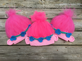 Ravelry  Poppy Inspired Tulle-tally Easy Troll Hat pattern by Lace Kennedy  Crochet 4c6ccfb8a43