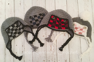 Ravelry Buffalo Plaid Trapper Hat Pattern By Lace Kennedy
