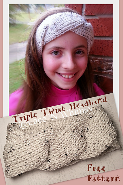 Ravelry Triple Twist Headband Pattern By Lace N Whimsy