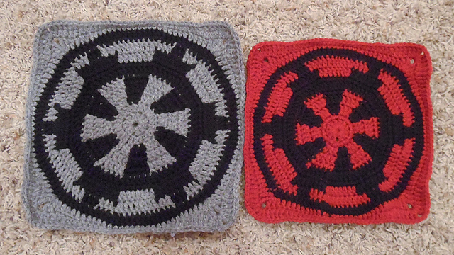 Ravelry Star Wars Imperial Square Pattern By Mallory Walleck