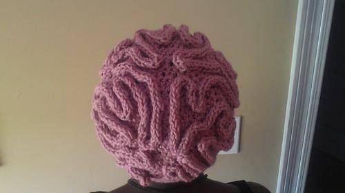 brain hat template - ravelry brain beanie hat pattern by bobwilson123