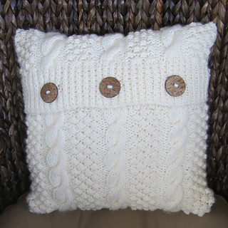 Ravelry: Blackberry Cable Pillow Cover pattern by Jennifer Wilby