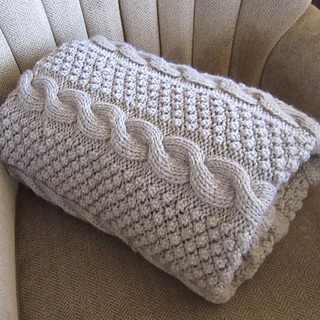 Ravelry Blackberry Cables Throw Blanket Afghan Pattern By