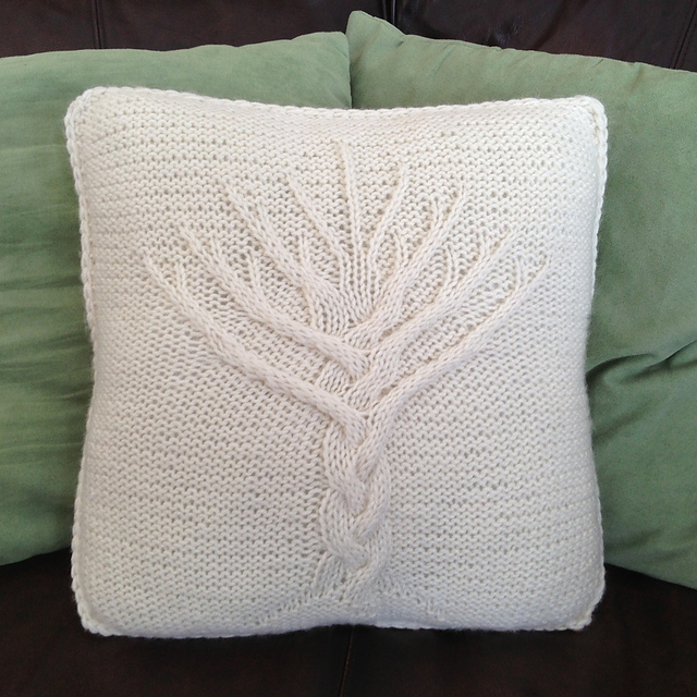 Ravelry Tree Of Life 16x16 Pillow Cover Pattern By Jennifer Wilby