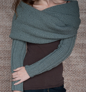 Ravelry Sleeve Scarf Sweater Wrap Pattern By Lake House Knits