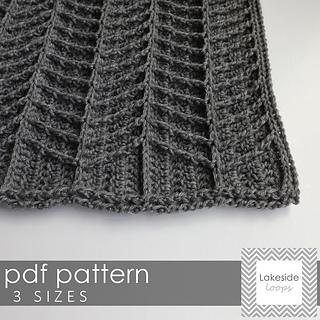 Ravelry Hayden Chevron Blanket Pattern By Lakeside Loops