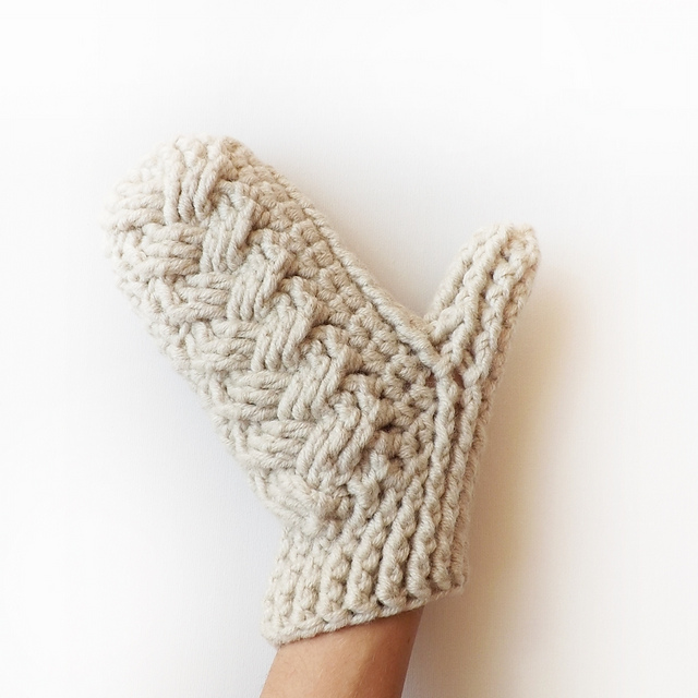 Ravelry: Holden Cable Crochet Mittens pattern by Lakeside Loops
