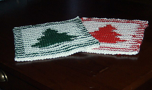 Ravelry Illusion Tree Christmas Dishcloth Pattern By Lauras Knits