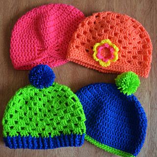 Ravelry  Granny Square Hat Crochet Tutorial pattern by bobwilson123 80807b35a94
