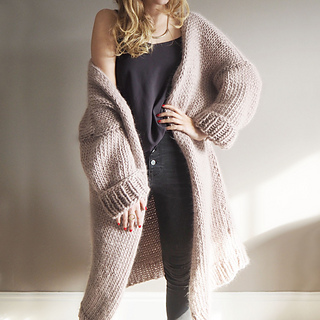 e59a80e0e6dac Ravelry  Dreamy Oversized Cardigan pattern by Lauren Aston Designs