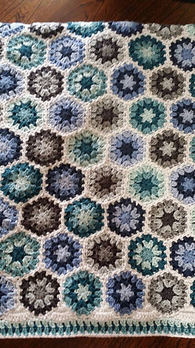 Ravelry Granny Hexagon Afghan Pattern By Kara Gunza