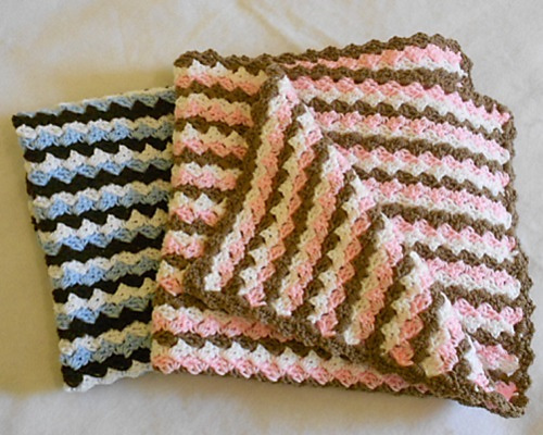 Ravelry Waves Of Color Baby Blanket Pattern By Marie Anne St Jean
