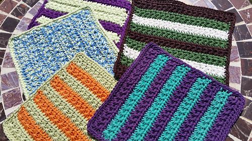Ravelry Crochet Star Stitch Dishcloth Baby Washcloth Pattern By