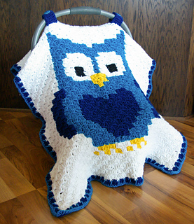 & Ravelry: Little Owl Car Seat Canopy pattern by Megan Meyer