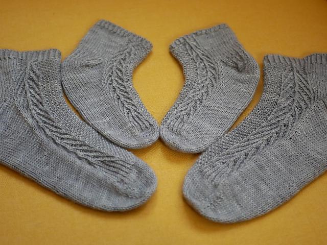 chaussettes tricotées Keïma par Mélina Hami