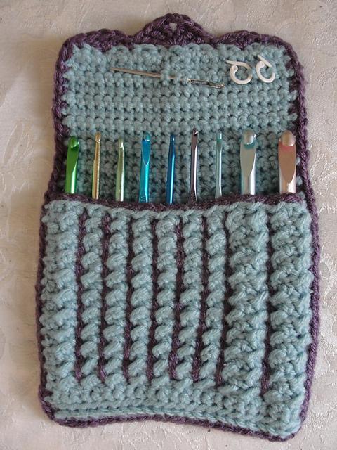Ravelry: crunch stitch crochet hook case pattern by Libertycrochet ...