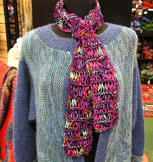 Ravelry Twisted Drop Stitch Ribbon Scarf Pattern By Lila