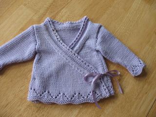 dc52943fc12a Ravelry  Baby Wrap Cardigan pattern by Kate Gunn   Robyn Macdonald