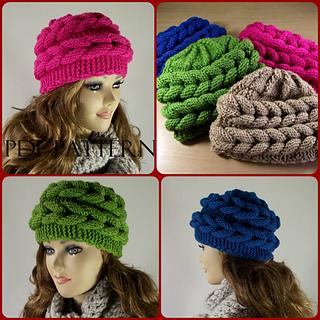 Ravelry  Aralenna Hat pattern by Lilia Vanini cce5e6ffdeca