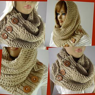 Ravelry  Loulou Hood Scarf pattern by Lilia Vanini 549781b92db2