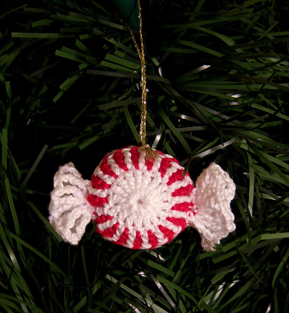 ravelry peppermint candy christmas ornament pattern by linmarie creations - Peppermint Candy Christmas Ornaments
