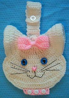 Ravelry 3 D Kitty Cat Crochet Towel Topper Pattern By Linmarie