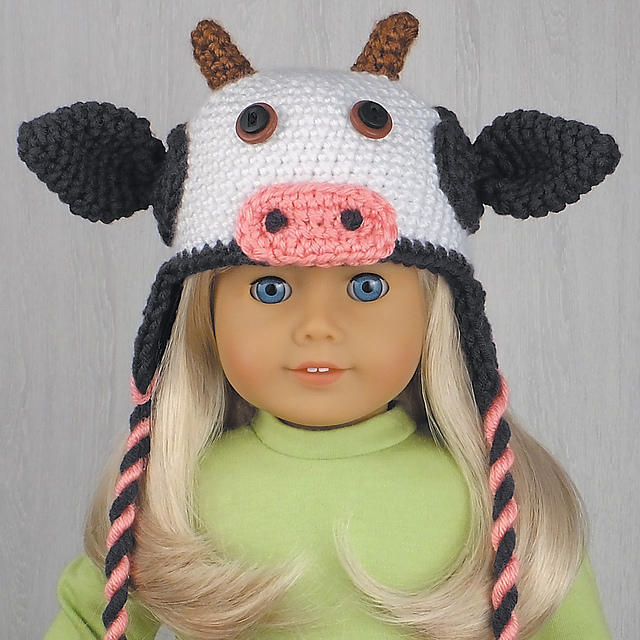Ravelry Amigurumi Animal Hats For 18 Inch Dolls 20 Crocheted