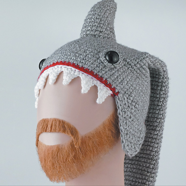 Ravelry Shark Hat Pattern By Linda Wright Lindaloo Enterprises