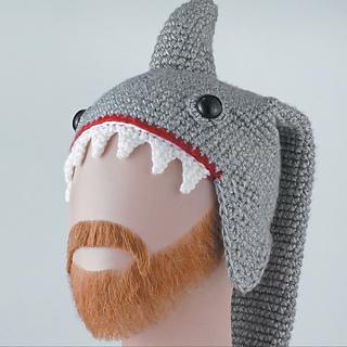 Ravelry  Shark Hat pattern by Linda Wright - Lindaloo Enterprises 495558ff0dd8