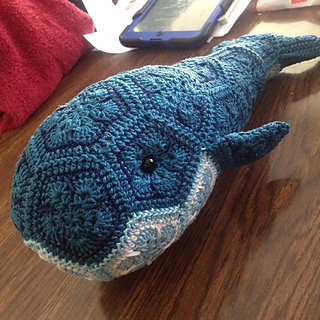 Ravelry: Purdy the African Flower Whale pattern by ...