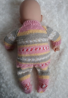 Ravelry: Baby Annabell sleepsuit pattern by linda Mary